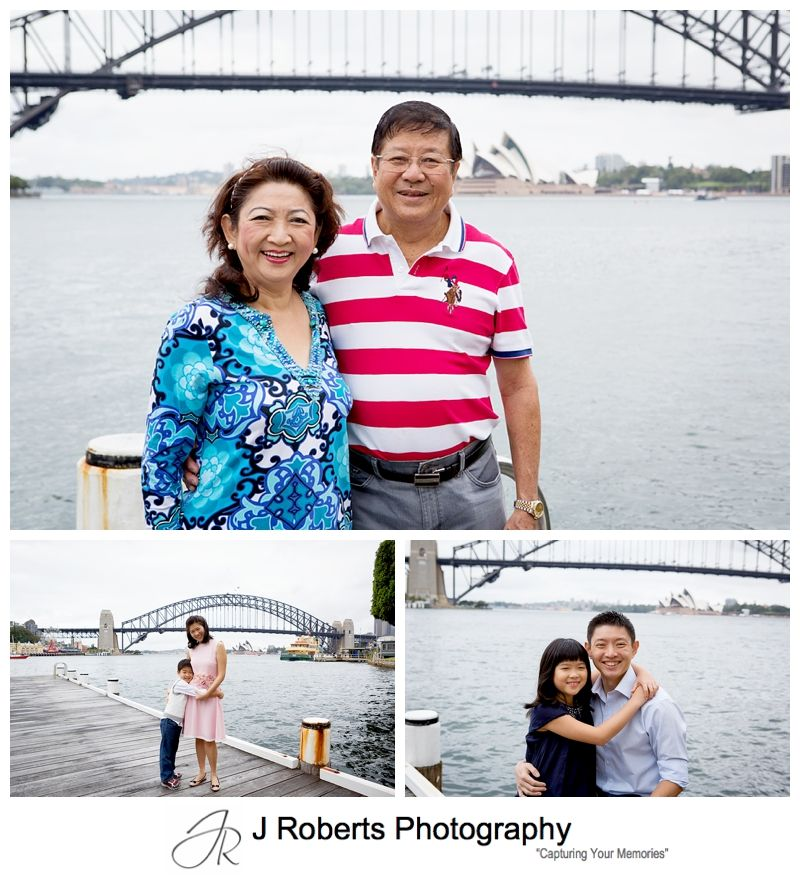 Overseas Visitors Family Portrait Photography in Sydney at Blue Point Reserve Great Harbour Views for Family Photos